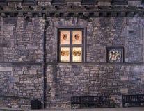 De Grote Zaal van het Kasteel van Edinburgh Stock Foto