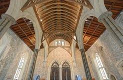 De Grote Zaal van het Kasteel van Winchester in Hampshire, Engeland Stock Foto's