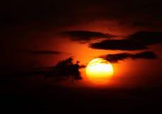 de grote zon Stock Afbeelding