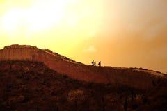 De grote Zonsondergang van de Muur Stock Foto's