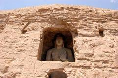 De Grotten Boeddhistische holen van Unesco Yungang, China Stock Fotografie