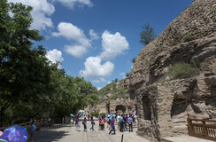 De Grotten van Datongyungang Stock Foto's