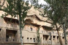 De grotten van Dunhuangmogao Stock Afbeelding