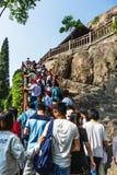 De Grotten van Luoyanglongmen in Henan, China Royalty-vrije Stock Foto