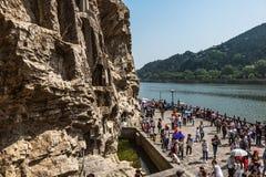 De Grotten van Luoyanglongmen in Henan, China Stock Afbeelding