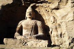 De Grotten van Yungang stock afbeeldingen