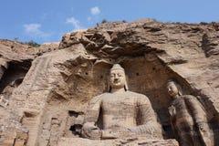 De Grotten van Yungang Royalty-vrije Stock Foto's