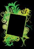 De Grunge bandera swirly Imágenes de archivo libres de regalías