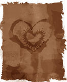 De Grunge Bevlekte brief van de Liefde Royalty-vrije Stock Foto's