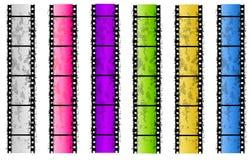 De Grunge Gekleurde Grenzen van de Strook van de Film Stock Fotografie