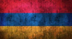 De Grunge verfrommelde vlag van Armenië het 3d teruggeven Royalty-vrije Stock Foto