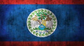 De Grunge verfrommelde vlag van Belize het 3d teruggeven Royalty-vrije Stock Foto