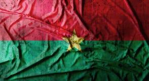 De Grunge verfrommelde vlag van Burkina Faso het 3d teruggeven Royalty-vrije Stock Fotografie
