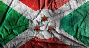 De Grunge verfrommelde vlag van Burundi het 3d teruggeven Royalty-vrije Stock Afbeeldingen