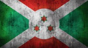 De Grunge verfrommelde vlag van Burundi het 3d teruggeven Stock Fotografie