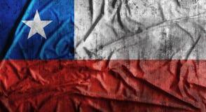 De Grunge verfrommelde vlag van Chili het 3d teruggeven Stock Fotografie