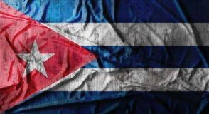 De Grunge verfrommelde vlag van Cuba het 3d teruggeven Stock Foto