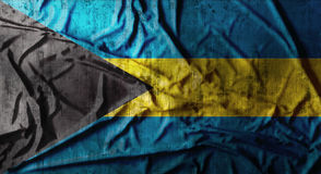 De Grunge verfrommelde vlag van de Bahamas het 3d teruggeven Royalty-vrije Stock Afbeelding
