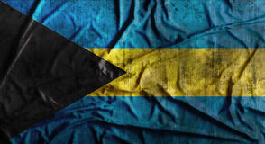 De Grunge verfrommelde vlag van de Bahamas het 3d teruggeven Stock Foto