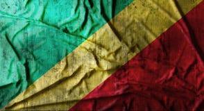 De Grunge verfrommelde vlag van de Kongo het 3d teruggeven Royalty-vrije Stock Foto's