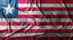 De Grunge verfrommelde vlag van Liberia het 3d teruggeven Stock Foto's