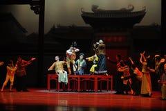 De Guangdong de musique d'orchestre-Le acte national d'abord des événements de drame-Shawan de danse du passé Photos libres de droits