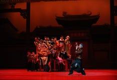De Guangdong de musique d'orchestre-Le acte national d'abord des événements de drame-Shawan de danse du passé Images libres de droits