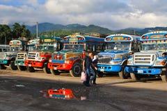 De Guatemalaanse Bussen van de Kip Royalty-vrije Stock Afbeeldingen