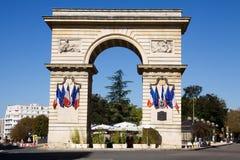 De Guillaume-poort op Darcy-vierkant in Dijon, Frankrijk Royalty-vrije Stock Afbeelding