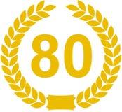 an de guirlande de 80 lauriers illustration stock