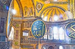 De guld- halv-kupolerna Royaltyfria Bilder