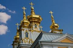 De guld- kupolerna Fotografering för Bildbyråer