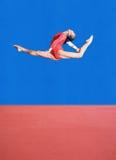 De gymnastiek stelt royalty-vrije stock fotografie