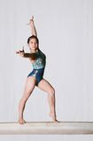 De gymnastiek stelt royalty-vrije stock foto