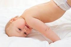 De gymnastiek van de baby Stock Afbeeldingen