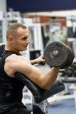 De gymnastiek van de geschiktheid opleiding met gewichten Stock Afbeeldingen