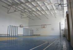 De gymnastiek van de school binnen Stock Foto's