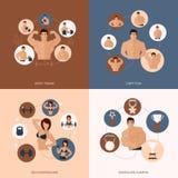 De gymnastiek vlakke reeks van de Bodybuildingsgeschiktheid Stock Afbeeldingen