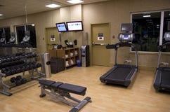 De gymnastiekruimte van het gezondheidsclubhotel Royalty-vrije Stock Foto's