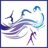 De gymnastiekvector van de vrouw stock illustratie