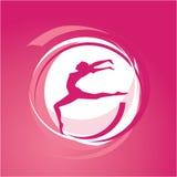 De gymnastiekvector van de vrouw Stock Foto