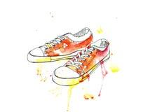 De gymschoenentennisschoenen van de sportenjeugd Stock Fotografie