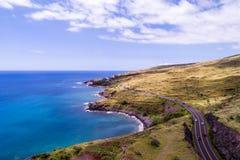 De härliga kusterna av Maui Hawaii Arkivfoto