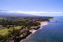 De härliga kusterna av Maui Hawaii royaltyfria foton