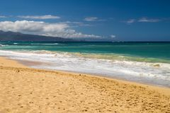 De härliga kusterna av Maui Hawaii Royaltyfria Bilder
