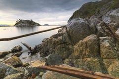 De härliga sceniska scapesna av Vancouver och Fraser Valley arkivbilder