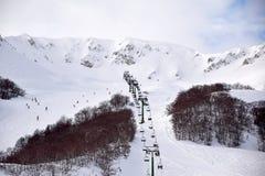 De höga bergen av Abruzzo fyllde med snö 0016 Royaltyfri Fotografi