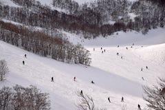 De höga bergen av Abruzzo fyllde med snö 0021 Royaltyfri Fotografi