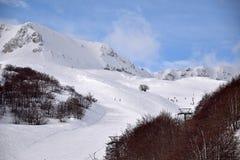 De höga bergen av Abruzzo fyllde med snö 0028 Royaltyfri Foto