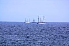 De högväxta skeppen Arkivfoto